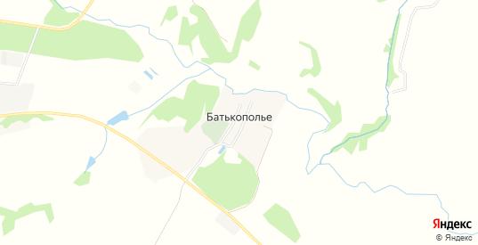 Карта деревни Батькополье в Московской области с улицами, домами и почтовыми отделениями со спутника онлайн
