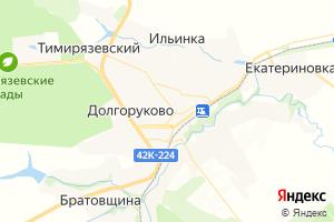 Карта с. Долгоруково Липецкая область