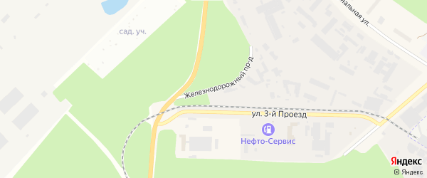 Железнодорожный проезд на карте Черноголовки с номерами домов