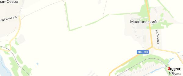 Карта садового некоммерческого товарищества Малиновки в Тульской области с улицами и номерами домов