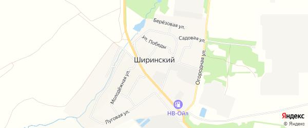Карта Ширинского поселка в Тульской области с улицами и номерами домов