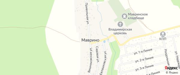 Евлашковская улица на карте деревни Маврино с номерами домов