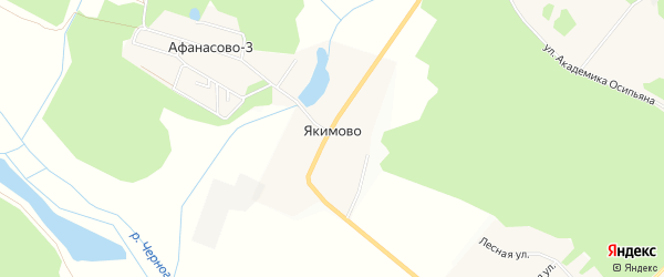 Карта деревни Якимово города Черноголовки в Московской области с улицами и номерами домов