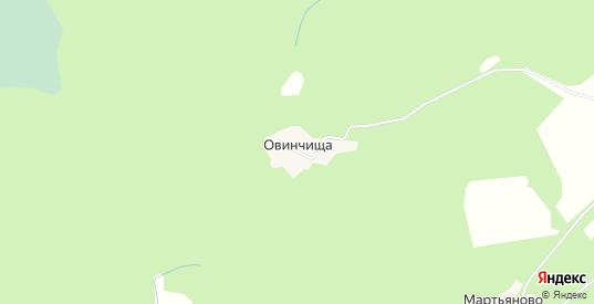 Карта деревни Овинчища в Ярославская области с улицами, домами и почтовыми отделениями со спутника онлайн