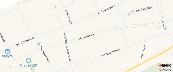 Улица Чапаева на карте села Засосны Белгородской области с номерами домов