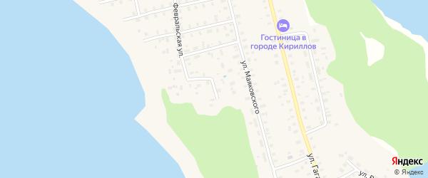 Озерная улица на карте Кириллова с номерами домов