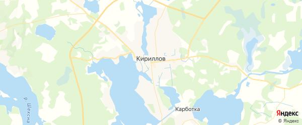 Карта Кириллова с районами, улицами и номерами домов: Кириллов на карте России