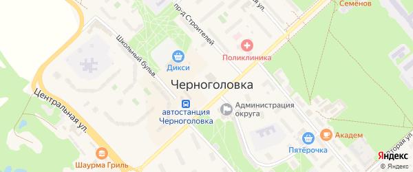 Площадь Имени Ф.И. Дубовицкого на карте Черноголовки с номерами домов