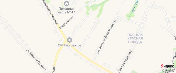 Улица Николая Некрасова на карте Роговатого села с номерами домов