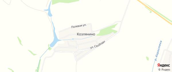 Карта деревни Козлянино города Каширы в Московской области с улицами и номерами домов