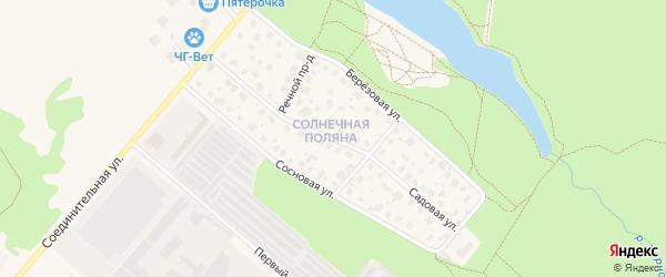 Садовая улица на карте Черноголовки с номерами домов