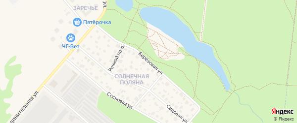 Березовая улица на карте Черноголовки с номерами домов