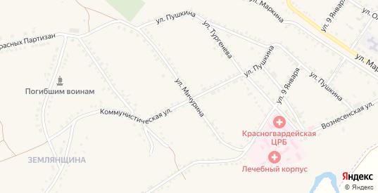Улица Мичурина в Бирюче с номерами домов на карте. Спутник и схема онлайн