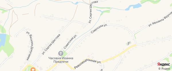Советская улица на карте Роговатого села с номерами домов