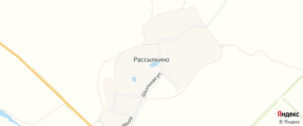 Карта деревни Рассылкино в Тульской области с улицами и номерами домов
