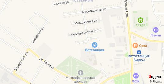 Цветочная улица в Бирюче с номерами домов на карте. Спутник и схема онлайн