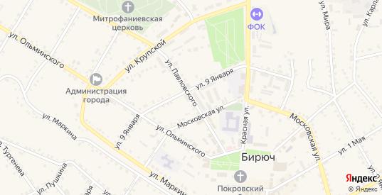 Улица Павловского в Бирюче с номерами домов на карте. Спутник и схема онлайн