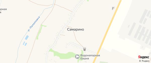Юбилейная улица на карте села Самарино с номерами домов