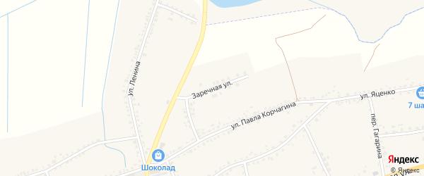Заречная улица на карте села Засосны Белгородской области с номерами домов