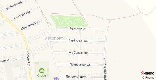 Берёзовая улица в Бирюче с номерами домов на карте. Спутник и схема онлайн