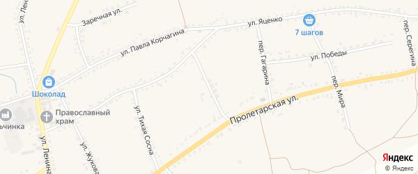 Комсомольский переулок на карте села Засосны с номерами домов