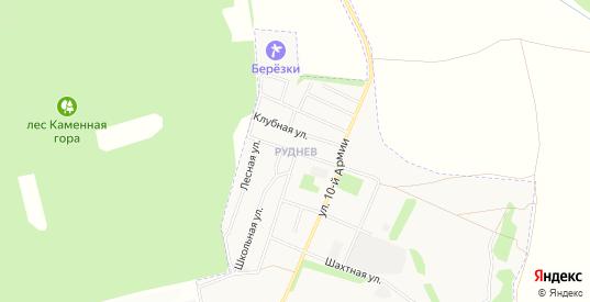 Карта микрорайона Руднев в Донском с улицами, домами и почтовыми отделениями со спутника онлайн