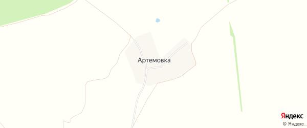 Карта деревни Артемовка в Тульской области с улицами и номерами домов