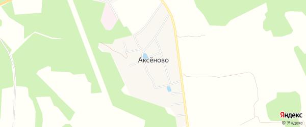Карта деревни Аксеново в Московской области с улицами и номерами домов