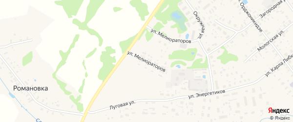 Улица Мелиораторов на карте Мышкина с номерами домов