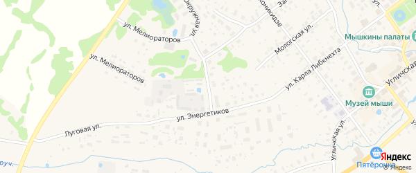 Дорожный переулок на карте Мышкина с номерами домов