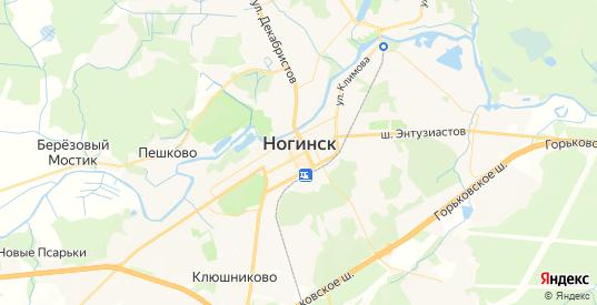 Карта Ногинска с улицами и домами подробная. Показать со спутника номера домов онлайн