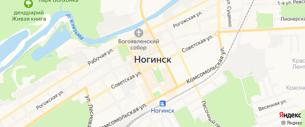 Территория СНТ Весна на карте Ногинска Московской области с номерами домов
