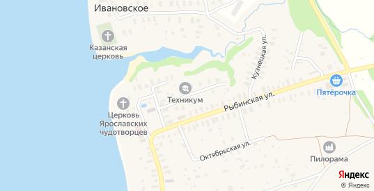 Школьная улица в селе Глебово в Ярославская области с номерами домов на карте. Спутник и схема онлайн