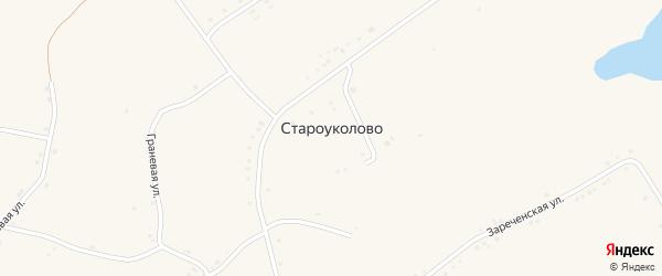 Широкинская улица на карте села Староуколово с номерами домов