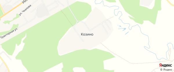 Карта деревни Козино в Московской области с улицами и номерами домов