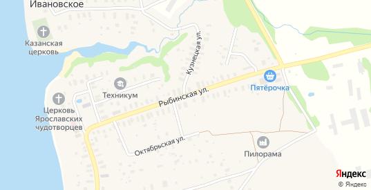 Рыбинская улица в селе Глебово в Ярославская области с номерами домов на карте. Спутник и схема онлайн