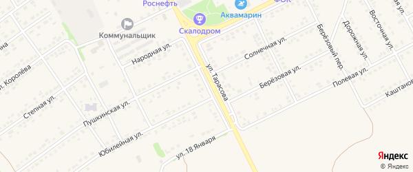 Улица Тарасова на карте поселка Вейделевки с номерами домов