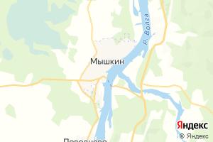 Карта г. Мышкин Ярославская область