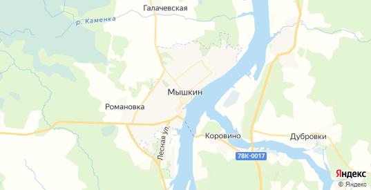 Карта Мышкина с улицами и домами подробная. Показать со спутника номера домов онлайн
