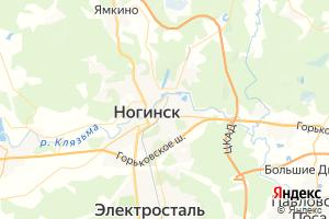 Карта г. Ногинск Московская область