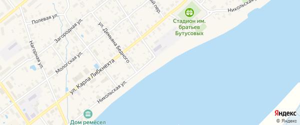 Никольская улица на карте Мышкина с номерами домов
