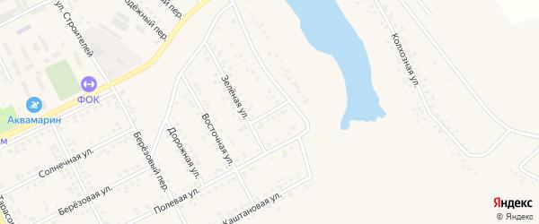 Советский переулок на карте поселка Вейделевки с номерами домов