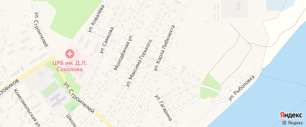 Улица Ковалева на карте Мышкина с номерами домов