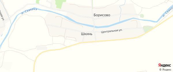 Карта села Шкинь города Коломны в Московской области с улицами и номерами домов