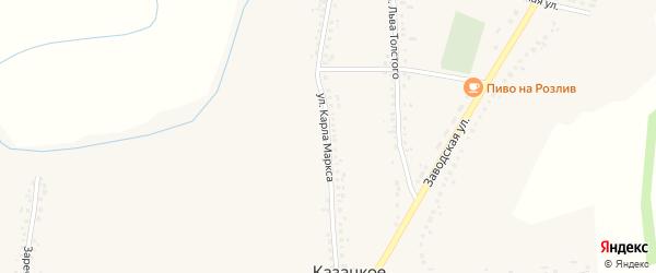 Улица Карла Маркса на карте Казацкого села с номерами домов