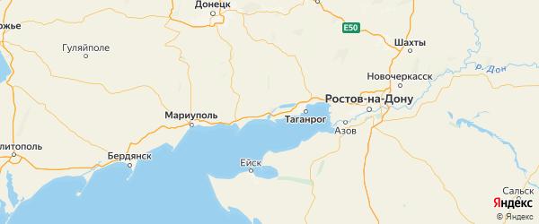 Карта Неклиновского района Ростовской области с городами и населенными пунктами