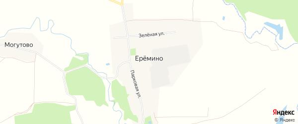 Карта деревни Еремино в Московской области с улицами и номерами домов
