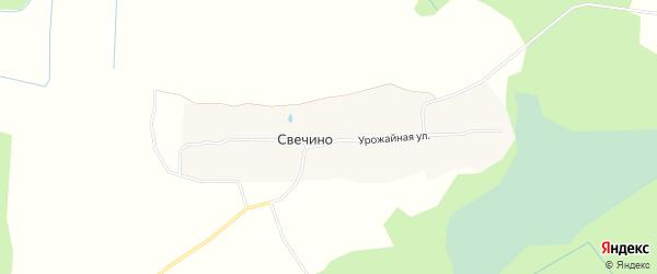 Карта поселка ДНТ Свечино в Ярославская области с улицами и номерами домов