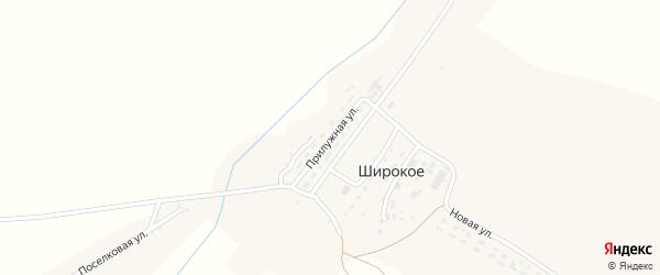 Прилужная улица на карте Широкого села с номерами домов