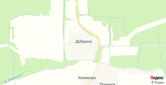 Карта деревни Добрино в Ярославская области с улицами, домами и почтовыми отделениями со спутника онлайн